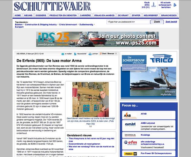 Arma in de media, Schuttevaer 22 april