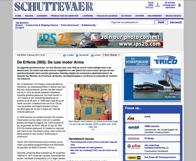 Arma in de media, Schuttevaer 22 april